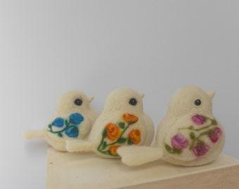 Bird sculpture, Needle felted bird, Collectible bird, Charming bird decor, Whimsical bird ornament, Bird decoration, Bird art, Window decor