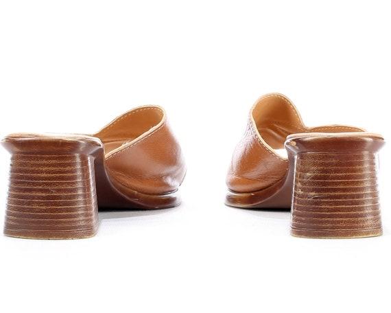 Leather Eur Beige Mules Slingback Toe Sliders Faux 8 Sandals 39 6 FIT Sandals Open Uk Vegan Size 5 WIDE 5 Chunky Us Clogs Heel 80s 8 AP8Hzqw