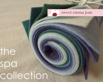 9x12 Wool Felt Sheets - The Spa Collection - 8 Sheets of Felt
