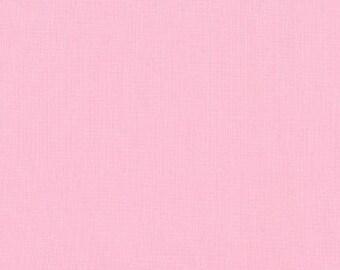 Baby Pink Solid KONA COTTON from Robert Kaufman Fabrics - K001-189
