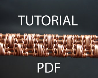 Wire jewelry tutorial, jewellery tutorial, wire weaving tutorial, wire weaving tutorial, wire tutorial, pdf tutorial, copper wire tutorial