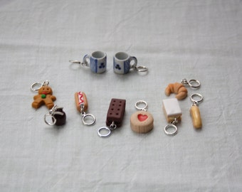 Stitchmarkers - Afternoon Coffee - Two Mugs & One of Everything - Stitch Markers