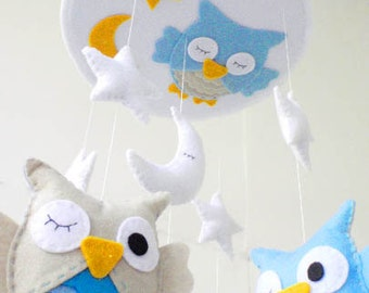 Baby Crib Mobile / Baby Mobile / Mobile Baby / Mobile for Baby / Baby Mobiles Hanging / Nursery Room Decor / Owl Baby Mobile / Make your own