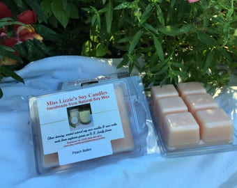 Peach Bellini Type Soy Wax Melts / Hand Poured Soy Wax Melts / Citrus Scented Wax Melts / Long Lasting Wax Melts / Strong Scent Wax Melts /