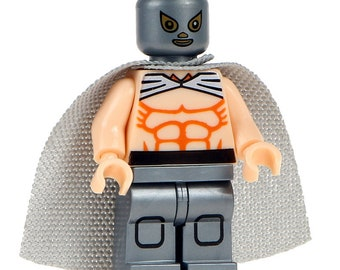 Lucha Libre Mexican Wrestler Fighter El Santo Custom Printed Minifigure Compatible with LEGO
