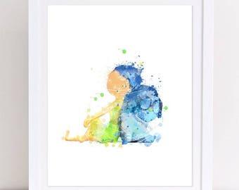 70% Inside Out Watercolor Poster Printable Joy Sadness Print Poster Watercolor Joy Watercolor Sadness Py Decor Home Decor Nursery Watercolor