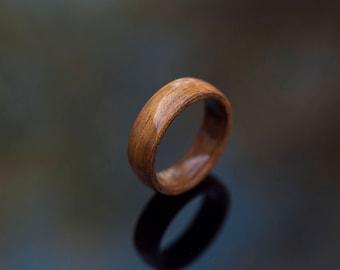 Mens Wedding Band made from Koa, Mens wedding ring, wooden ring