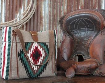 Saddle Blanket Bag, Navajo Blanket Bag, Southwest Blanket Bag, Western Bag, Western Fashion, Weekender Bag, Messenger Bag, Tote, Stripes,