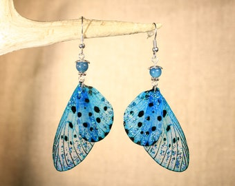 """Earrings """"blue butterfly fairy wings"""" fantasy, Faerie, fantasy, elven"""
