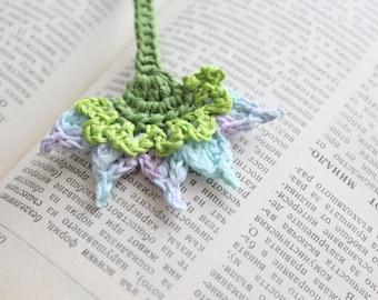 Flower bookmark, Handmade crochet bookmark, Unique Bookmark, Reader Gift