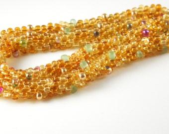 Golden Garden Kumihimo Necklace