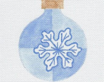 Snowflake Needlepoint Ornament - Jody Designs - SM1