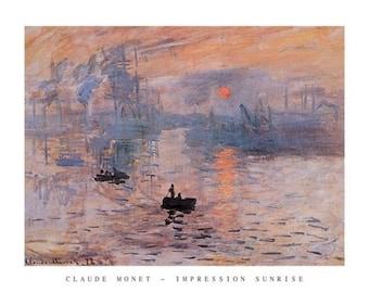 Claude Monet Impression Sunrise 22 x 28 print poster  Impressionism