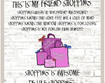 Be Like Shopping Greetings Card - For Friend - Card For Best Friend - Shopaholic - Shopping - Love Shopping - Friendship Card