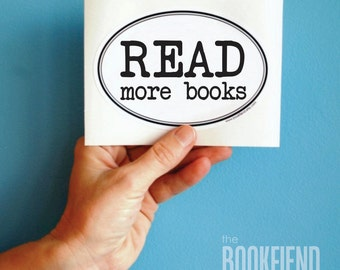 read more books bumper sticker