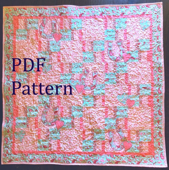 Western Baby Quilt Pattern Baby Girl Quilt Pattern Western Quilt