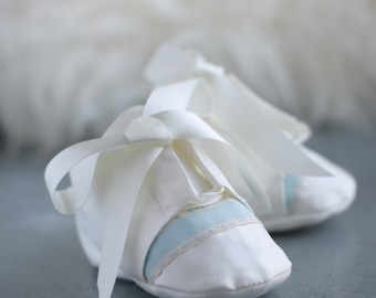 James Christening booties by Adore Baby/Boys booties/Christening booties/baptism booties/blessing booties/Christening shoes/baptism shoes
