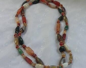 Long Stone Multi-Color Necklace