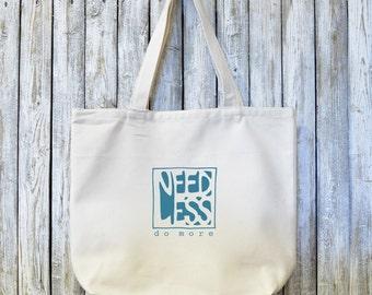 FAIRE plus, sac fourre-tout en toile bio, sac de Yoga, cartable, sac d'épicerie réutilisable, Made in USA,