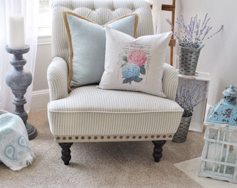 Hydrangea Pillow Cover | Farmhouse Floral Pillow Cover | Spring Farmhouse Throw Pillow | Farmhouse Cottage Decor