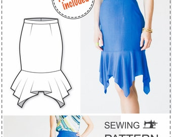 Skirt Pattern - Sewing Tutorials - Skirt Sewing Patterns -  Skirt Patterns - PDF Sewing Patterns - Sewing Projects -  Sewing Patterns