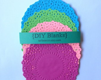 """4.5"""" Paper Doilies Doily Joyful 4 color assortment pack fancy Lace Qty 12 great for stamping"""