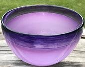 Hand Blown Glass Bowl Pur...