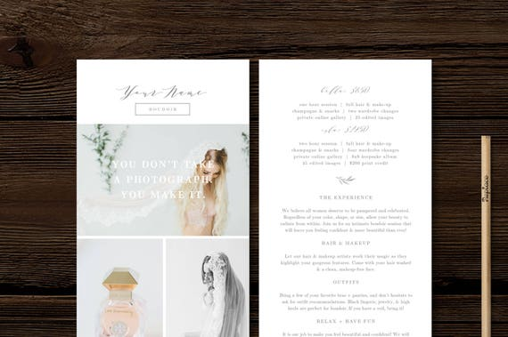 Rack Card Template Modern Calligraphy Style Designs For