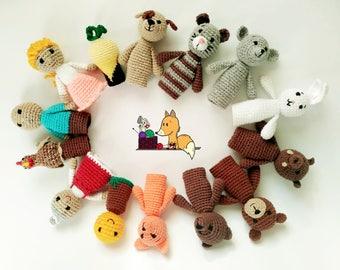 Educational crochet Finger theater