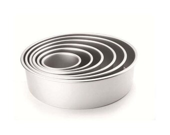 Series 4 molds aluminum round bottom removable cake pastry Cake Design