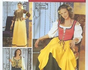 Simplicity 5582 (DD) - MISSES Renaissance Costumes / Sizes 4, 6, 8, 10