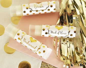 Bridesmaid Gift Ideas - Unique Bridesmaid Gifts Bridal Party Gifts Maid of Honor Gift Flower Girl Matron of Honor (EB3093BP) - 12 LIP BALMS