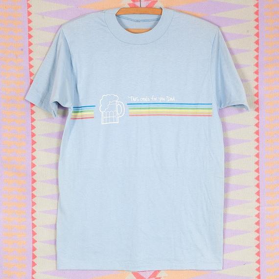 NOS M L Lite Beer Velva Sheen T Shirt Large 100% Cotton Royal Blue Rainbow Screen Print Tee 1970s 1980s Miller Lite Shirt Lite Beer T Shirt IlFPvhwSq
