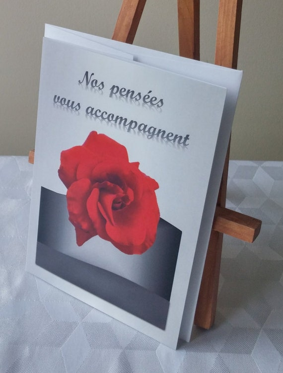 Condolence card with greeting/death/sympathy/Encouragement/card recovery/disease/hospital/flower/Rose-CD-SF-1976-03