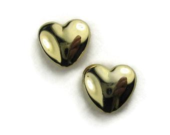Vintage Heart Stud Earrings