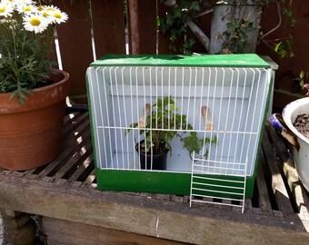 Old Bird Carrier, Birdcage, Bird Transporter, Garden Decor, Planter, Home Decor.