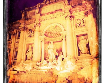 Trevi Fountain - Rome photograph, fine art photo, travel photography, Italy decor, retro photography, Europe art