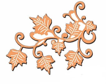 Cut scrapbooking leaf vines