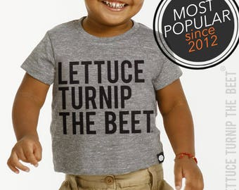 Lettuce turnip the beet ® trademark brand OFFICIAL SITE - heather grey infant track t shirt or baseball jersey with classic logo - funny tee