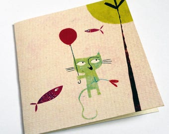 The green cat C002 card