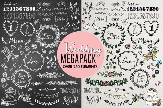 Wedding Clipart Mega Pack
