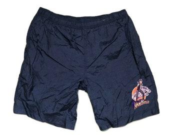 Han Solo Star Wars windbreaker shorts Vintage 90s - sz M-L (1)