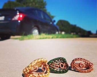 Custom Copper Colored Ring