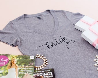 Bride Shirt, Bride tee, Premium Quality, Wifey Shirt, Bride to be, T-shirt, V-Neck, Gifts for Bride , Bridal Shower Gift, Bachelorette Party