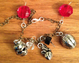 Graveyard Smash charm bracelet