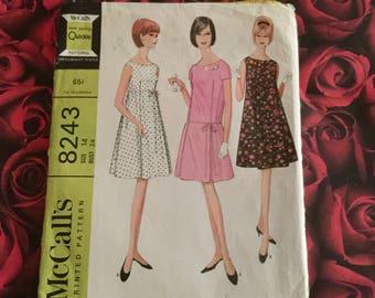 60's Vintage Dress Sewing Pattern
