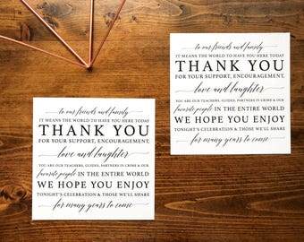 Wedding Thank You Card | Place Setting Thank You Card | Wedding Thank You Card | Printable PDF Instant Download