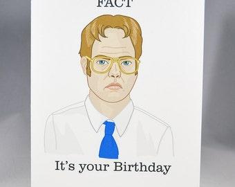 Fact Birthday Card - Pop Culture Birthday Card, Funny Birthday Card, Office Birthday, Pop Culture Card, Friendship Funny, Dry Humor Birthday