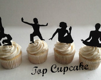 Yoga Inspired Cupcake Toppers -12