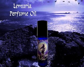 LEMURIA Perfume Oil - Aquatic Florals, Sunflowers, Persian Melon, Patchouli, Coriander - Fantasy Perfume